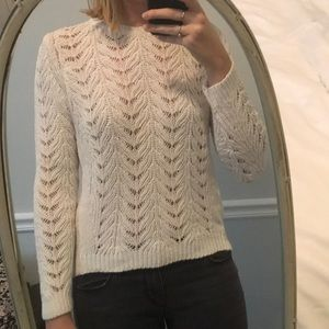 Winter white sweater with beautiful detail